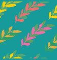 turquoise seamless leaves watercolour pattern vector image