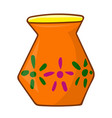 vase isolated vector image vector image