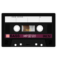 vintage technology audio cassette vector image