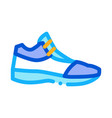 volleyball shoes sneakers icon outline vector image