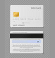white credit card realistic plastic cards vector image vector image