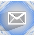 mail envelope Flat modern web design on a flat vector image