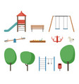 playground outdoor equipment vector image