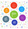 7 sock icons vector image vector image