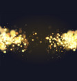 abstract defocused circular golden bokeh sparkle vector image vector image