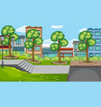 an outdoor scene with towm vector image vector image