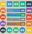 ATV icon sign Set of twenty colored flat round vector image