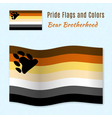Bear Brotherhood pride flag with correct color vector image vector image