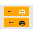 Black and wight smile pumpkin paper cut out vector image
