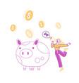 bonus card loyalty program earn reward redeem vector image