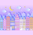 building moonstars and clouds vector image