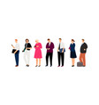 business characters waiting line vector image vector image
