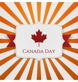 Canada Day patriotic Emblem with Ribbon vector image