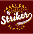 challenge football vector image vector image