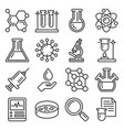 chemistry icons set on white background line vector image