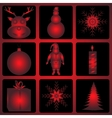 Christmas and Halloween icon set vector image vector image