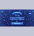 christmas blue background merry vector image vector image