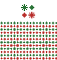 Christmas geometric pattern swatch vector image vector image