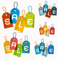 Colorful Sale Labels Set Isolated on White vector image