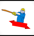 creative cricket banner design vector image vector image