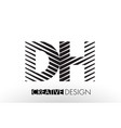 dh d h lines letter design with creative elegant vector image vector image