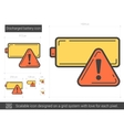 Discharged battery line icon vector image