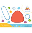 education paper game for children knitted hat vector image vector image