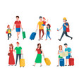 family vacation happy tourist holiday vacations vector image