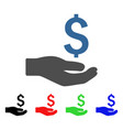 financial donation icon vector image vector image