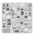 Flat icons cloud computing technology set