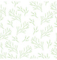 floral seamless pattern in doodle style vector image vector image