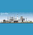 gaziantep turkey city skyline with color vector image vector image