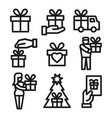gifts icon set vector image vector image