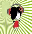 Girls Listening Music vector image vector image