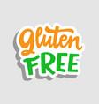 gluten free label sticker vector image