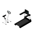 gym bike isometric view isolated on white vector image