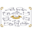 hand drawn ribbons scroll elements for banner vector image