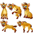 hyena cartoon set collection vector image vector image