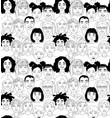 kids diversity head portraits line drawing doodle vector image vector image