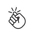 knocking on door icon vector image