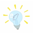 Light bulb icon cartoon style vector image vector image