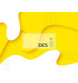 liquid abstract yellow and white background vector image vector image