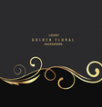 Luxury golden floral background vector image vector image