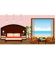 luxury interior of resort hotel room with outlet vector image vector image