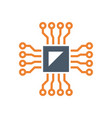 microchip testing icon vector image vector image