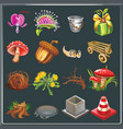 natural icons symbol collection vector image vector image