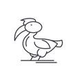 pelican line icon concept pelican linear vector image vector image