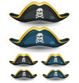 pirate hat set vector image vector image