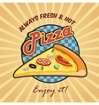 Pizza slice advertising poster vector image vector image