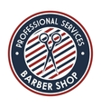 professional barber shop icon vector image